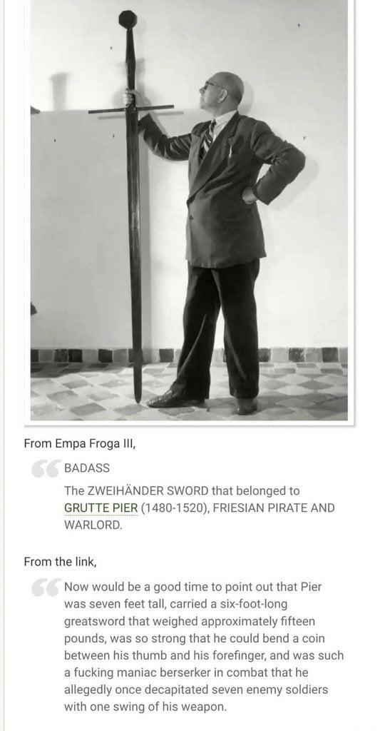 The Zweihänder sword