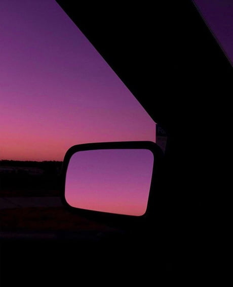 Sunset plus a side view mirror