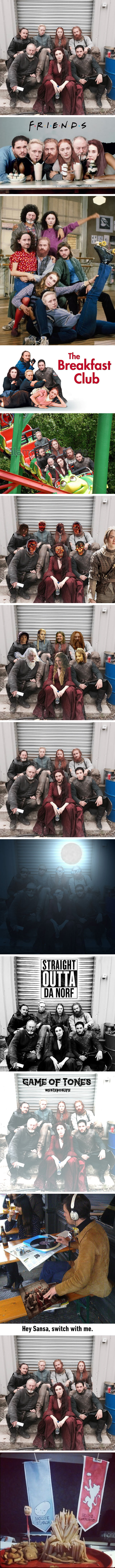 This photo of the Game of Thrones cast deserved to be photoshopped
