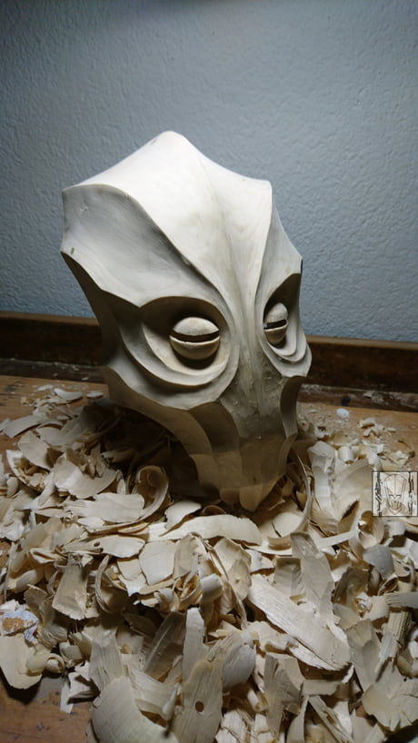 My handcarved Dukaan Dragonpriest Mask from Skyrim