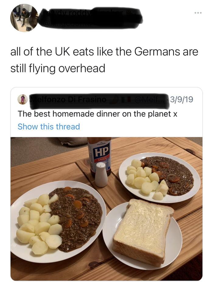Not a fan of British cuisine