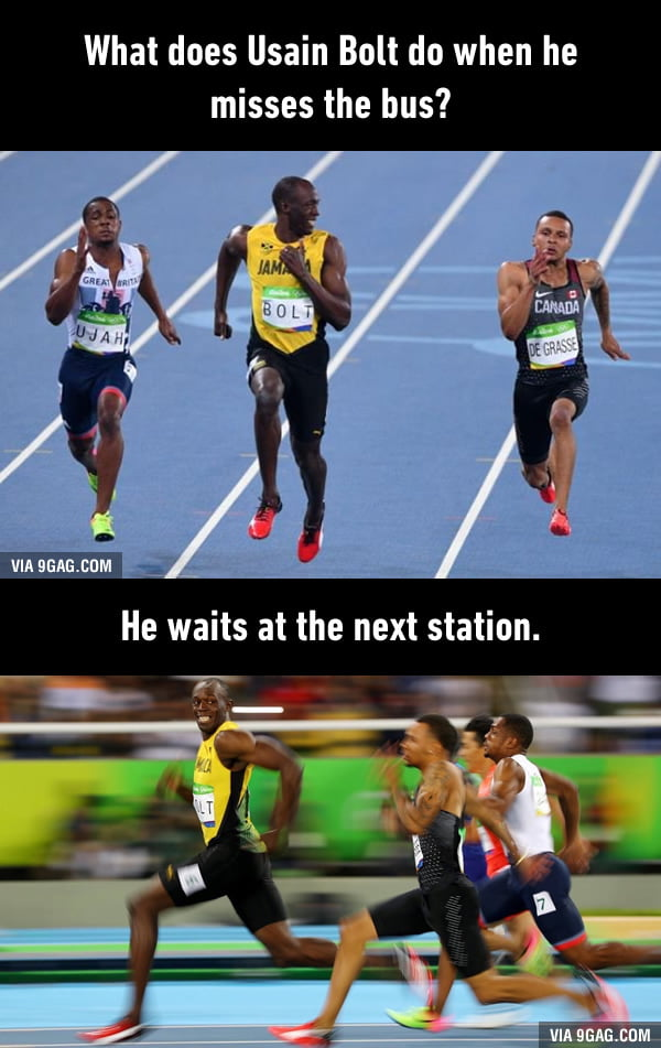 Usain Bolt makes history by winning the 100m 3 x in a row.