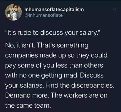 Workers are on the same side