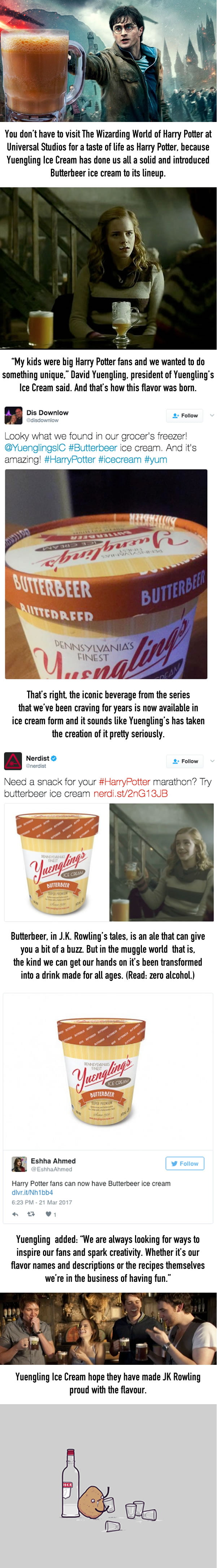 Yuengling Makes Magical Butterbeer Ice Cream For Potterheads