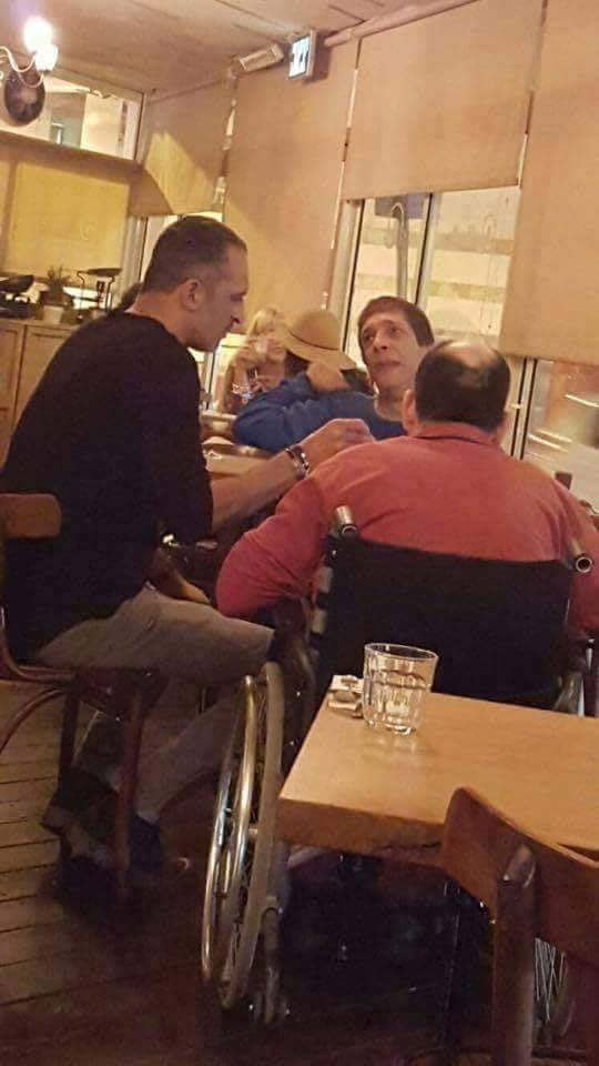 Raffaello restaurant, israel. the owner was spotted feeding two disabled people that can't eat by themselves.   faith in humanity restored