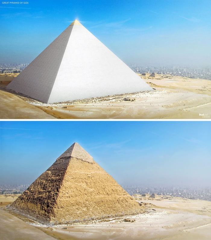 これがギザの大ピラミッド(クープ)のように見えたはずです... 11/10が再構築されます。
