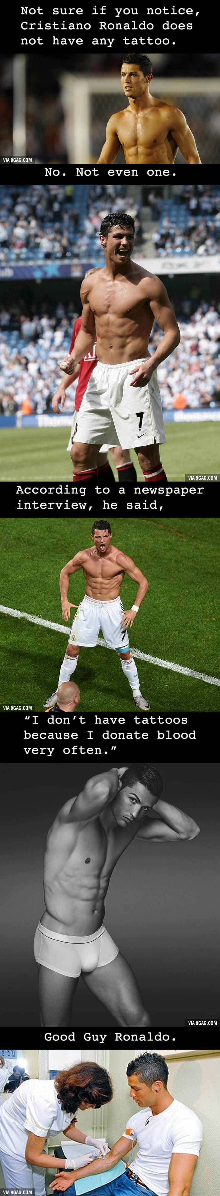 Mystery unveiled: of Cristiano Ronaldo tattoo