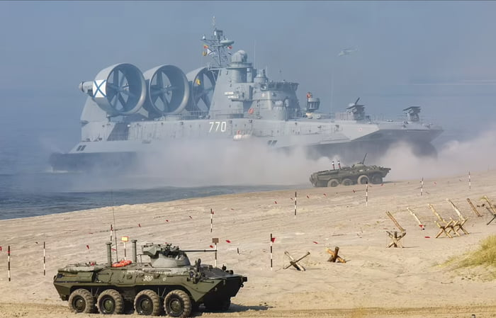 Zubr-class LCAC, the world's largest hovercraft.