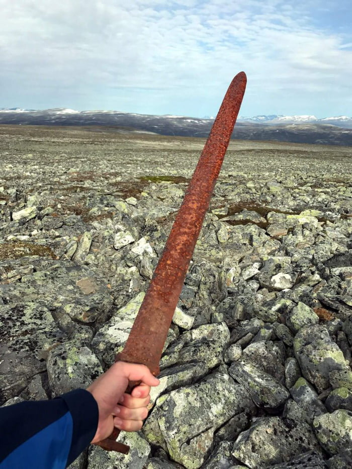 1,200 Year Old Viking Sword Discovered On Norwegian Mountain.