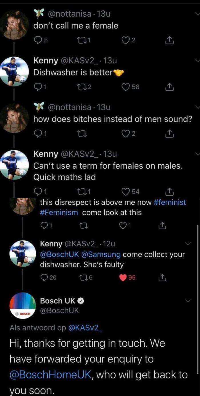 Don't call me a female