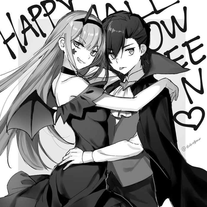 Hiro X Zero Two Halloween
