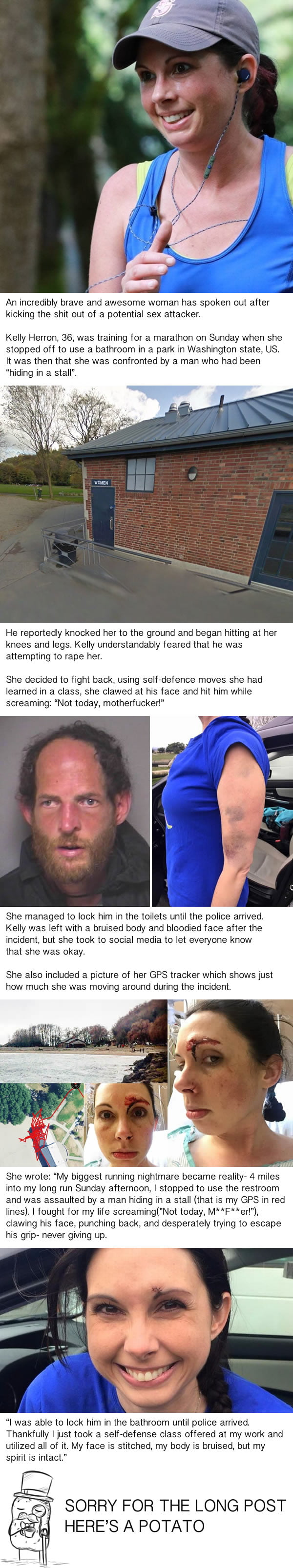 Brave Woman Beats The Shit Out Of 'Sex Attacker' In Toilets