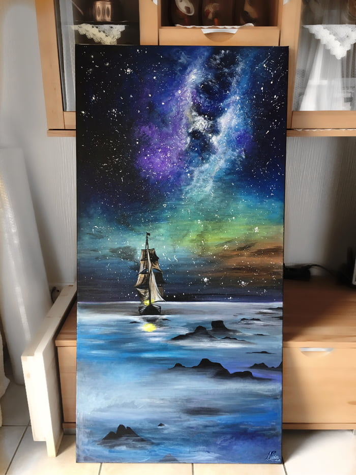 After the hardest time in my life, I painted this to tell myself that I am never alone, there will a way out. Hope u guys like it:)