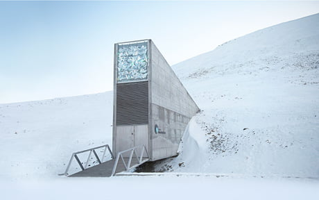 The Global Seed Vault located in Svalbard, Norway is a storage facility  that holds more than