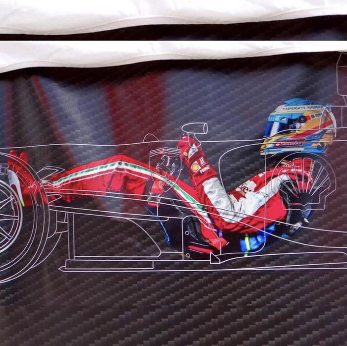 Driving position inside a Formula 1 car