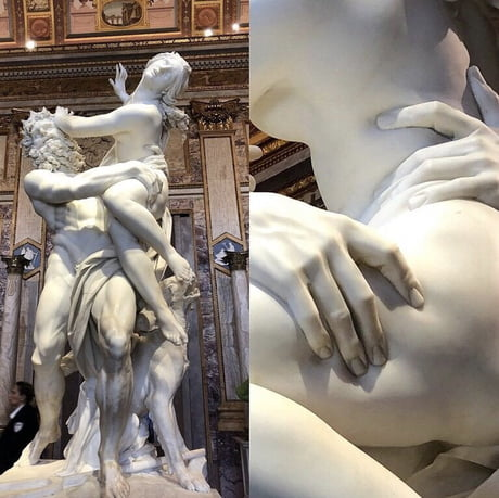 The level of detail in this sculpture that was completed by Italian artist Gian Lorenzo Bernini when he was only 23 years old