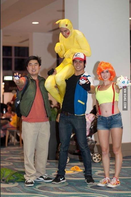 Pokemon Cosplay With Ash Misty Brock And Pikachu 9gag