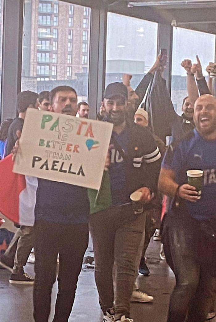 Wembley Italy vs Spain. SHOOTS FIRED!