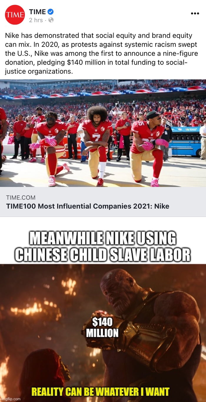 And you wonder why these multinational corporation rush to support these SJW causes