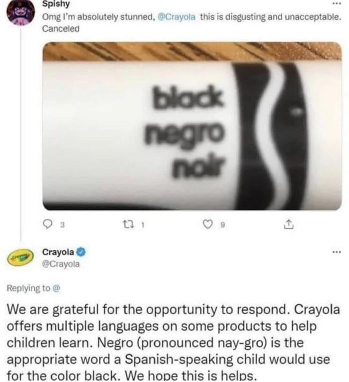 Cancel Crayola