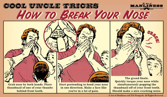 How to break your nose