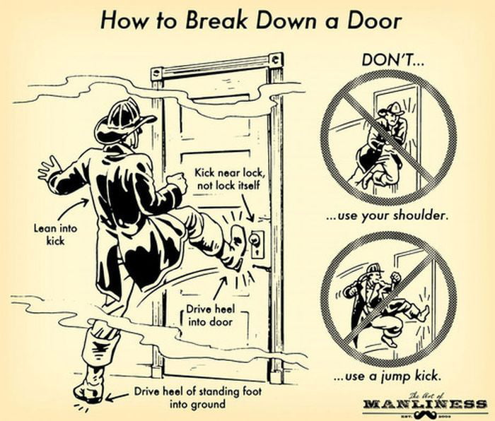 Kick the door like a proper man