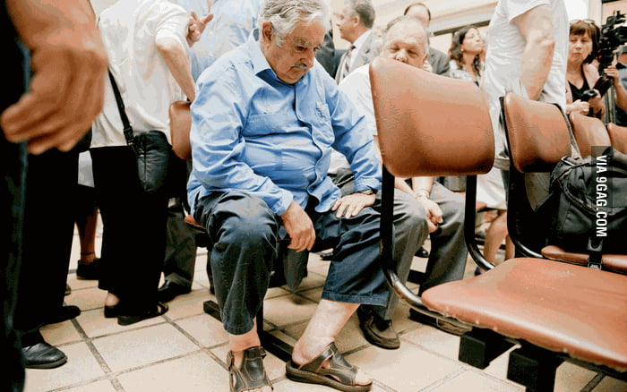 Uruguay President José Mujica wait to be treated at hospital