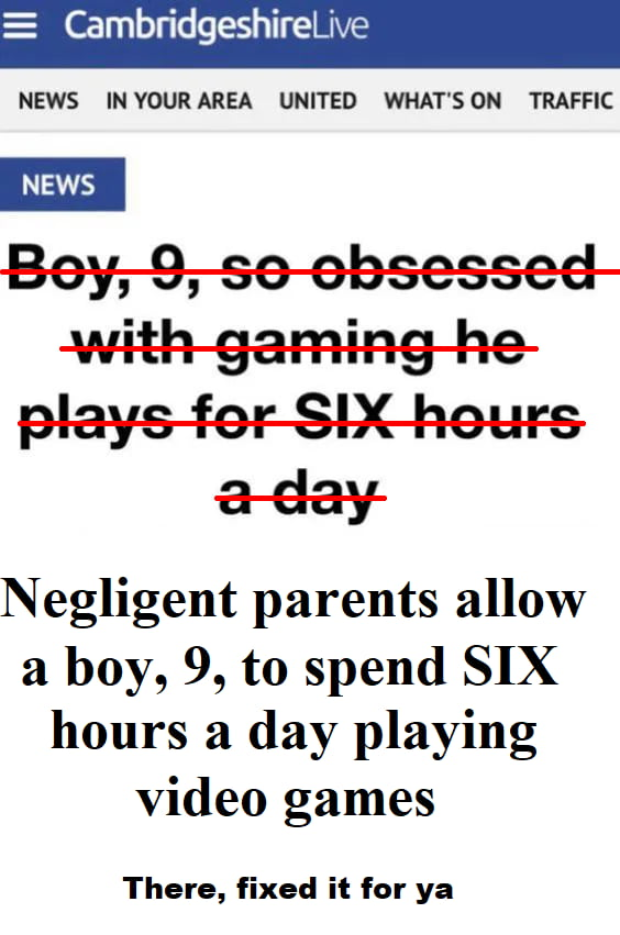 Kids will do anything if you let them. This is not a kid obsessed with games, this is parents not parenting.