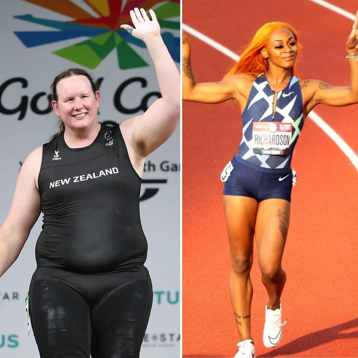 One is a biological man and is allowed to compete in the women's olympics in weightlifting, and the other is being docked for marijuana use.