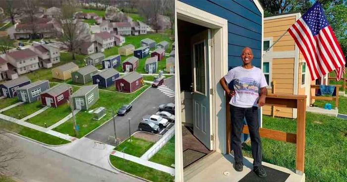Non-Profit Organisation Builds Village Of Tiny Homes So That Homeless Veterans Have A Safe Place To Live