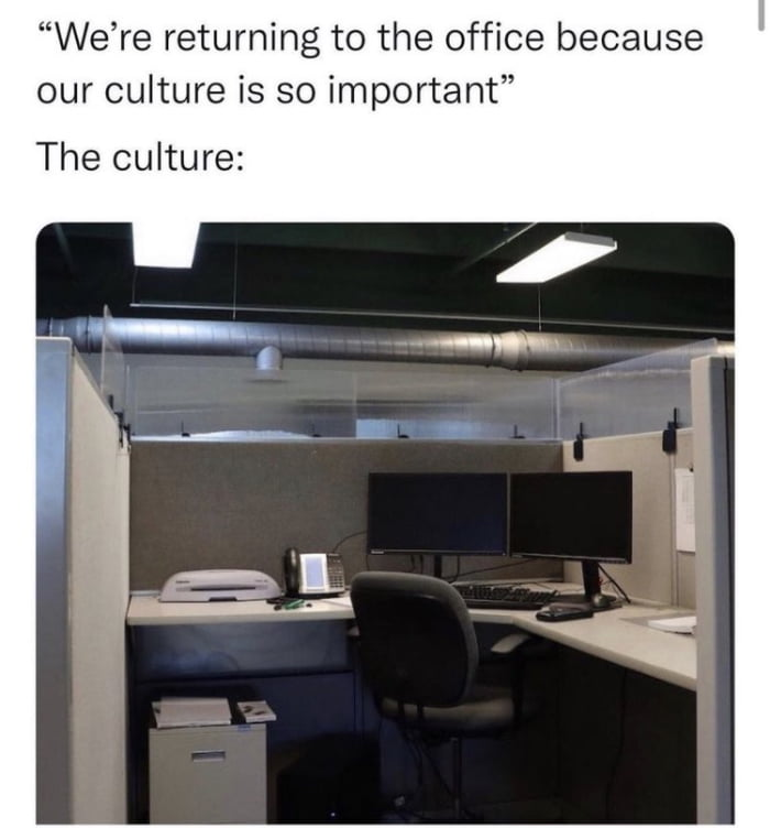 It's a culture thing…