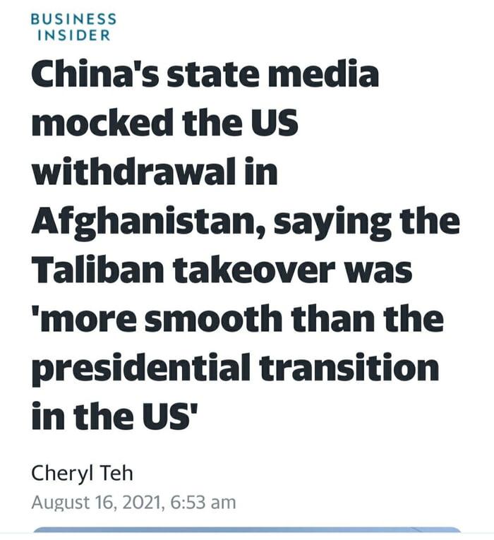 China mock the US