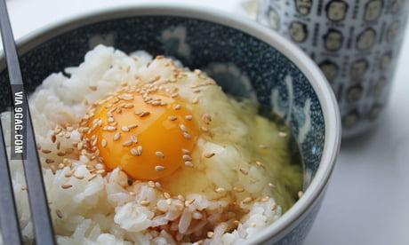 Tamago Gohan Raw Egg Steamed Rice 9gag