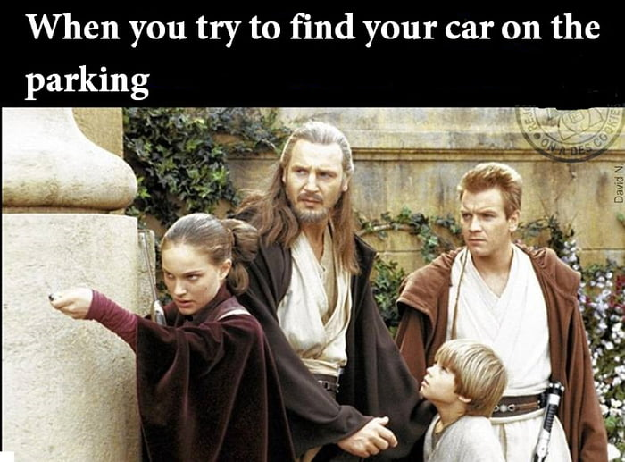 When you try to find your car on the parking