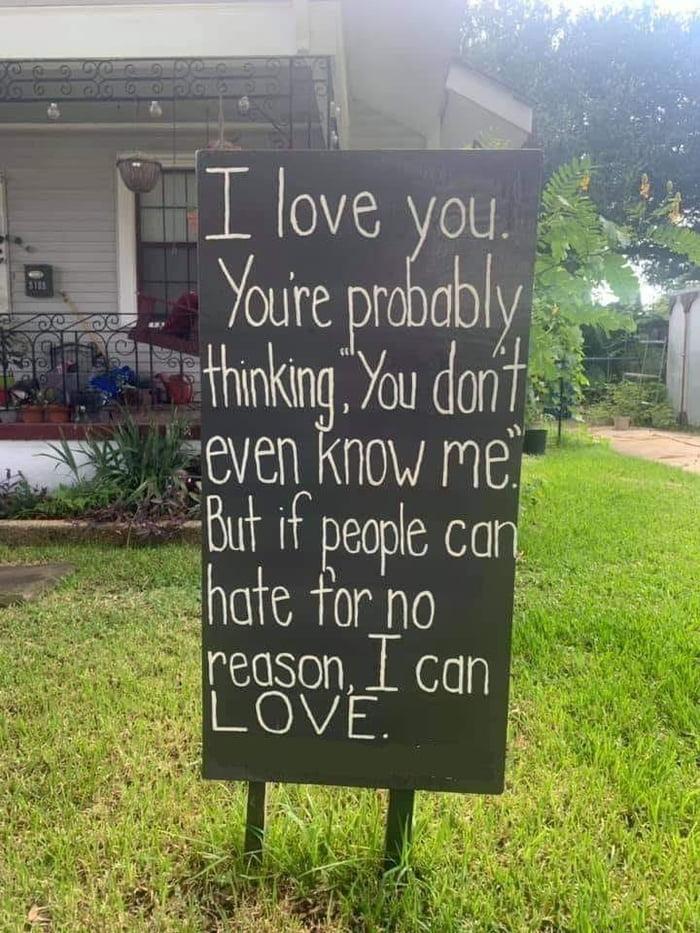 Love > Hate...