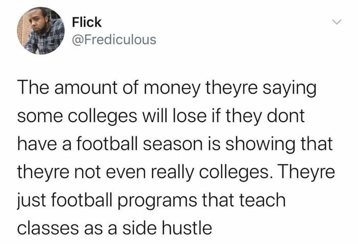 Looking at you NCAA