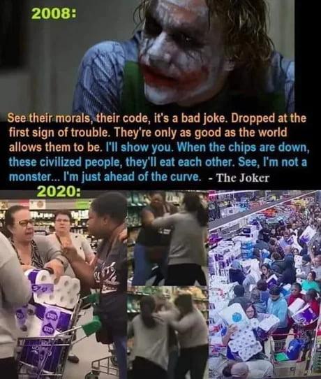 Oof, edgy joker meme.