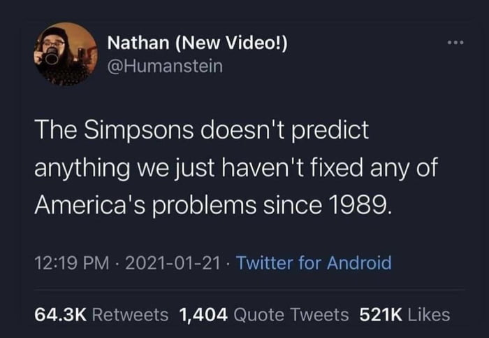The Simpsons doesn't predict anything…