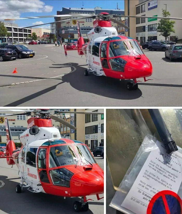 Even the rescue helicopter get's fined in germany