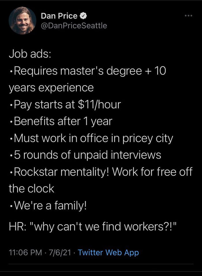 Is there anything worse than looking for an entry level job?