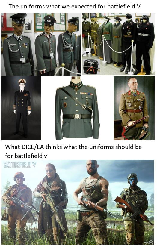 Battlefield V uniforms