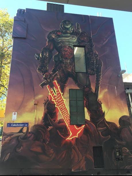 Graffiti Art Of The Doom Slayer 9gag