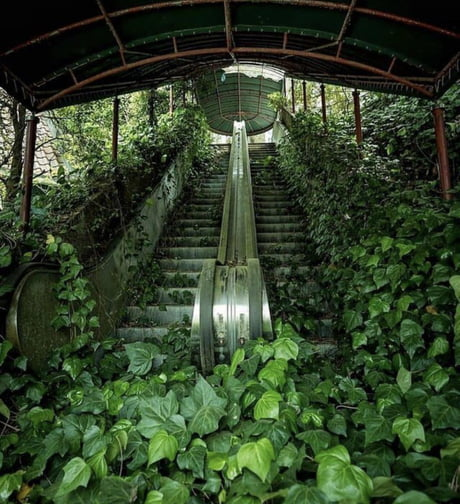 Awesome An abandoned escalator