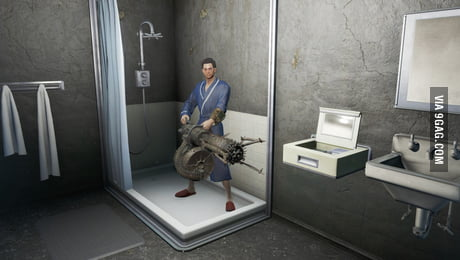 Fallout 4 When You Hear A Noise While Taking A Shower 9gag