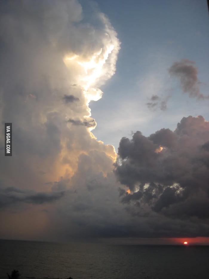 Good vs. Evil in the evening sky