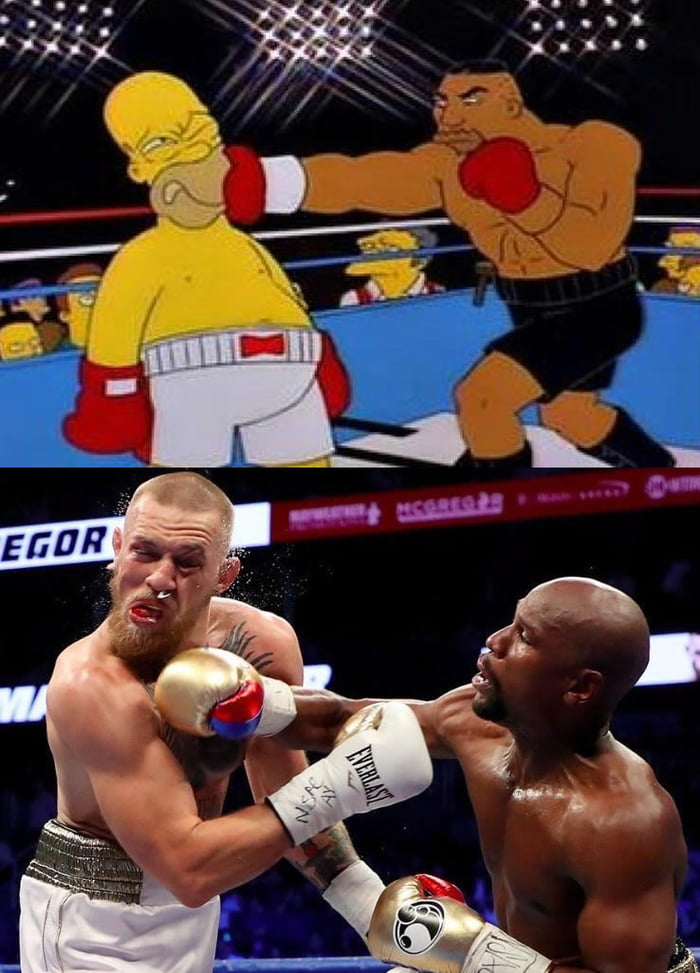Simpsons did it again! (Mayweather vs McGregor)