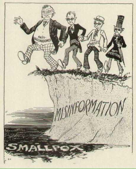 Pic from 30's warning the dangers of anti-vax movement