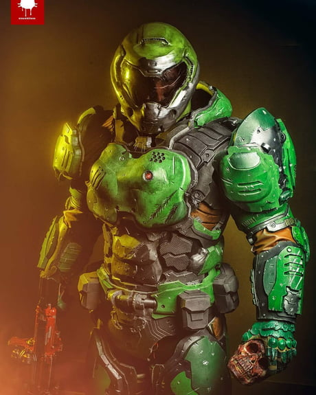 The Doom Slayer Cosplay By Scrap Shop Props 9gag