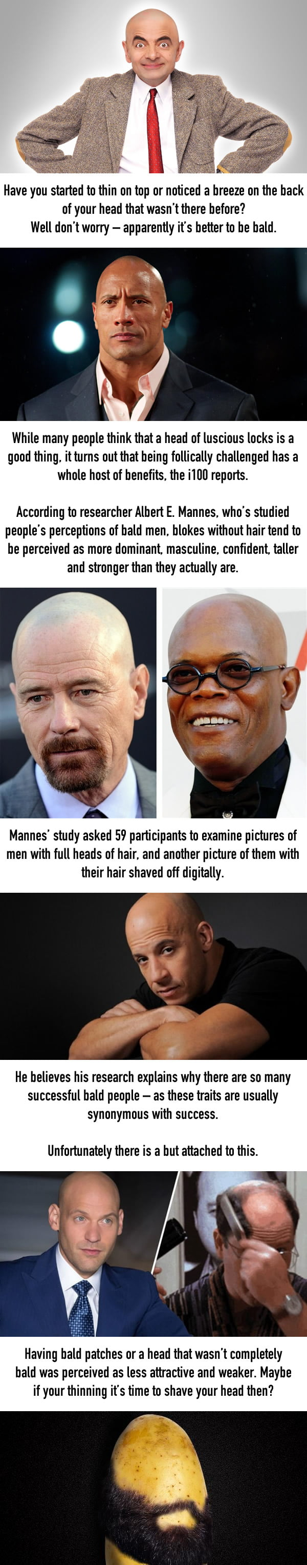 Being Bald Is Actually Massively Helpful According To Science