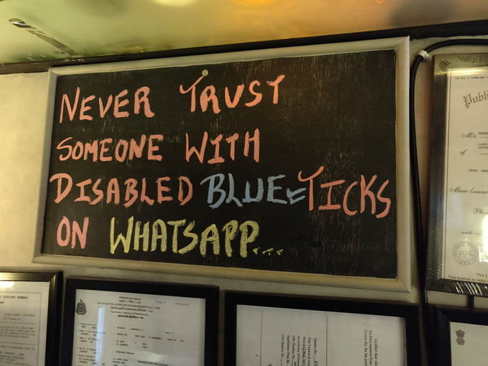 Found in a local eatery in Mumbai. Could not be said better. Trust needs to be earned! Lessons need to be learned!
